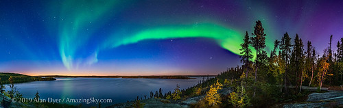 Auroral Arc in the Twilight at Prelude Lake