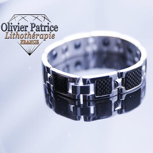 Bracelet chaîne d'hématite magnétique pour homme