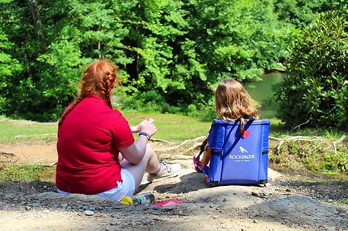 A camp counselor is always excited to sit creekside and talk about your day. #campcounselor #friend #support #summercamp #rockbrook #rockbrookcamp #rockbrookcampforgirls #rockbrookcampforever