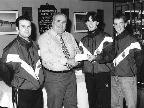 Scottish Junior Curlers cheque 1997