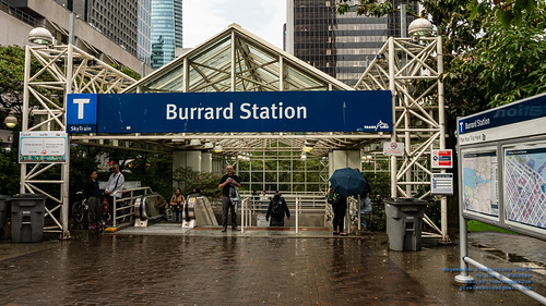 The Burrard Station Entryway With A Jada Map to Starboard