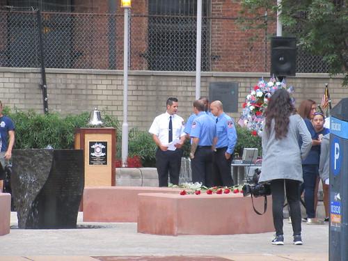 Prepping Memorial Park at Ritz Plaza 9/11/2019 NYC 0812