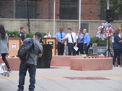 Prepping Memorial Park at Ritz Plaza 9/11/2019 NYC 0810