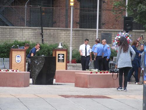 Prepping Memorial Park at Ritz Plaza 9/11/2019 NYC 0813