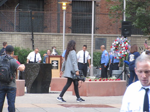 Prepping Memorial Park at Ritz Plaza 9/11/2019 NYC 0811