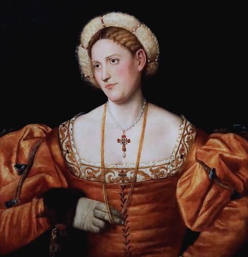 IMG_4427J Bernardino Licinio  1485-1560 environ  Venise Portrait d'une Dame Portrait of a lady  1525-1530 Bergamo Accademia Carrara