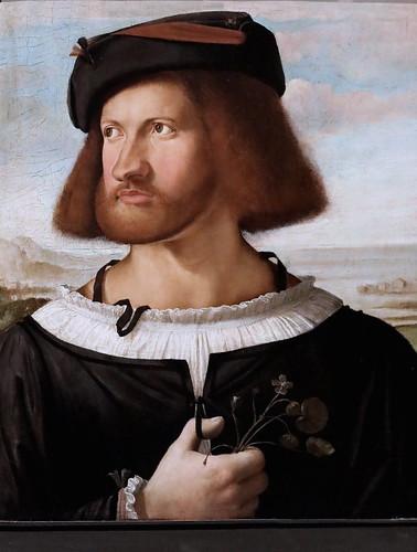 IMG_4427I Francesco Prata  actif vers 1510-1530 Portrait d'homme Portrait of a gentleman  vers 1515-1518 Bergamo Accademia Carrara