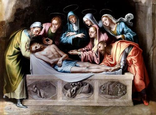 IMG_4427G Pieter de Kempeneer (Pedro de Campana) 1503-1580  Bruxelles, Bologne, Venise, Rome, Séville... La Mise au tombeau The Entombment 1535-1537 Bergamo Accademia Carrara