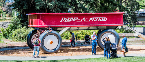2019 - Road Trip - 15 - Spokane Riverfront Park - Radio Flyer