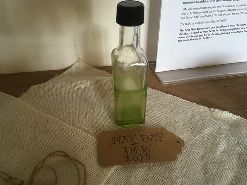 Collecting the May dew as a beauty potion