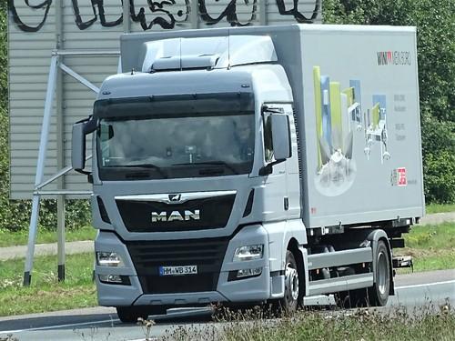 MAN TGX rigid from Wini Germany.
