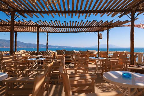 Restaurant Balcony of Wood in Greece