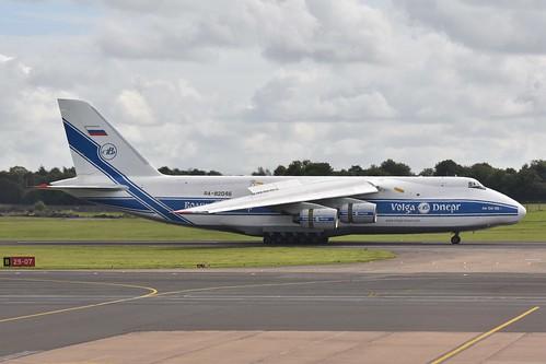 Volga-Dnepr Airlines Antonov AN-124-100 (RA-82046), Belfast International Airport, September 2019