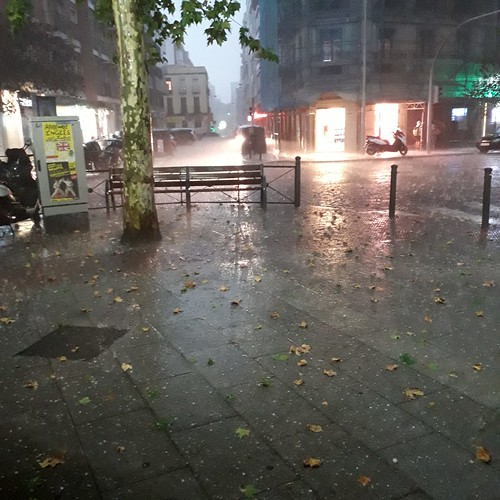 Summer storm in Madrid, Calle Lopez de Hoyos, Prosperidad, My neighbourhood,  Madrid