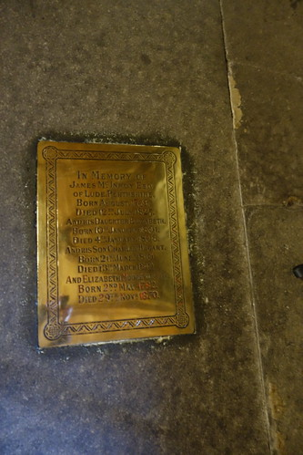 James McInroy Esq of Lude House, Blair Athol, Perthshire  - Glasgow Cathedral