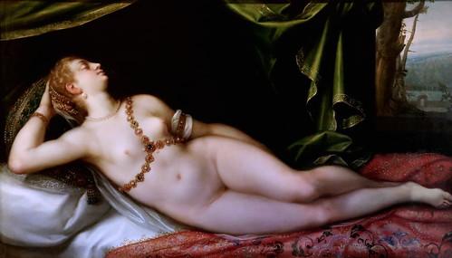 IMG_1205D Dirk de Quade van Ravesteyn actif à Prague 1589-1608 Vénus endormie; Venus asleep Dijon Musée des Beaux Arts.