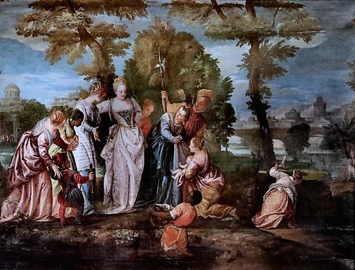 IMG_1203E Véronèse (Paolo Caliari)  1526-1588 Venise Moïse sauvé des eaux. Moses saved from the waters Vers 1580 Dijon Musée des Beaux Arts.