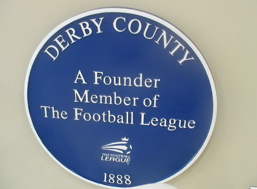 637 Founder Members of the Football League Plaque - Derby County