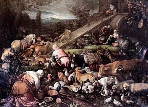IMG_1204A Francesco Bassano 1549-1592 Venise L'Entrée des animaux dans l'arche.  Entrance of animals into the ark Vers 1570 Dijon Musée des Beaux Arts.