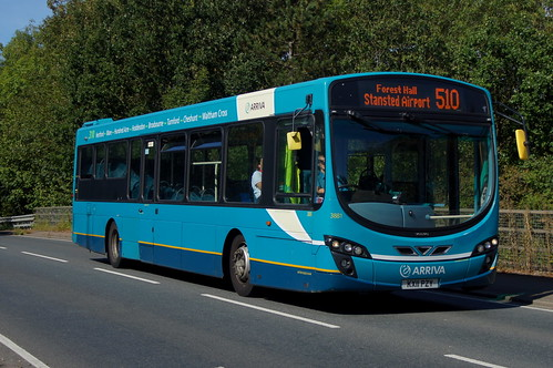 Up High: Arriva Harlow Volvo B7RLE/Wright Eclipse 2 KX11PZY (3881) Church Road Stansted Mountfitchet 14/09/19