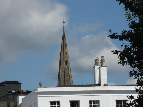 Cheltenham Minster, St Mary's - spire over Crescent Terrace