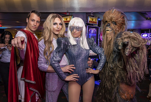 Caesar Gisele Lullaby Lady Gaga Chewbacca Vegas nights at Casino Montreal by eva blue 01