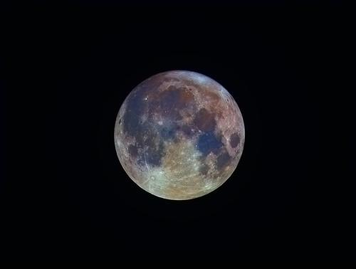 Full Moon With Enhanced Colour