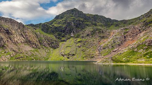 Lake Glaslyn with Mount Snowdon