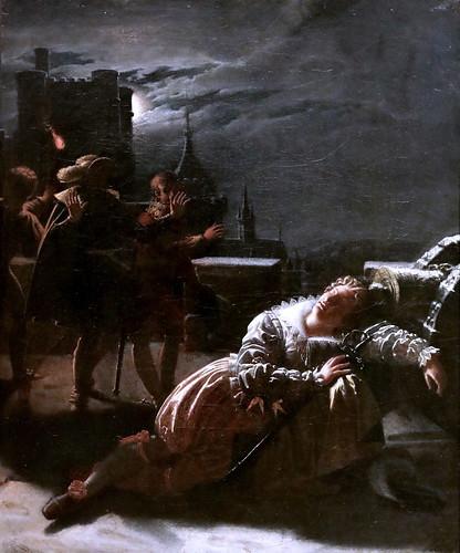 IMG_9230 Jacques Noël Marie Frémy 1782-1867 Paris Turenne endormi sur l'affût d'un canon  Turenne asleep on the lookout for a gun 1814 Brou Musée du Monastère Royal.