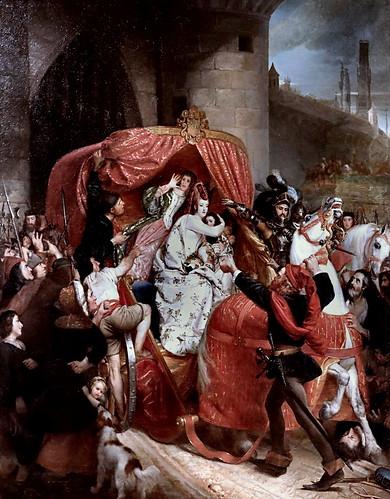 IMG_9235 Sophie Rude 1797-1867 Paris  La Duchesse de Bourgogne arrêtée aux portes de Bruges The Duchess of Burgundy arrested at the gates of Bruges  1841 Brou Musée du Monastère Royal.