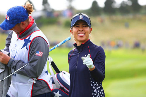 Danielle Kang of the USA looks on at the 9th gree