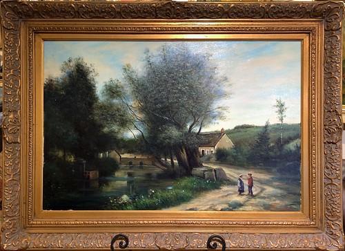 Paul Pollars Landscape Oil Painting