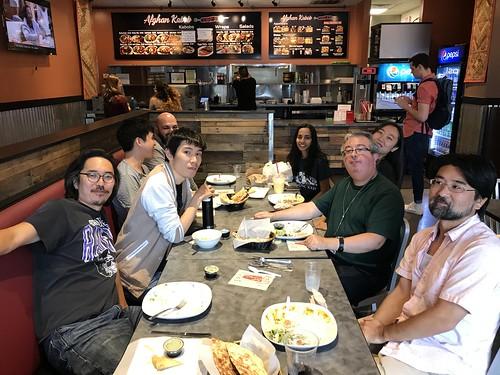 Farewell lunch for Hideki and Allen