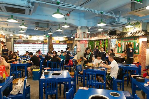 Hot-pot restaurant in Wangfujing Street