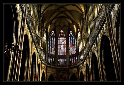 Chorraum des St. Veits Dom, Prag, Tschechien.