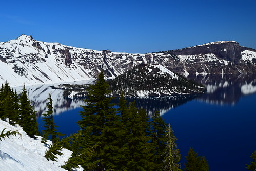 Caldera filled with rain water and snow melt