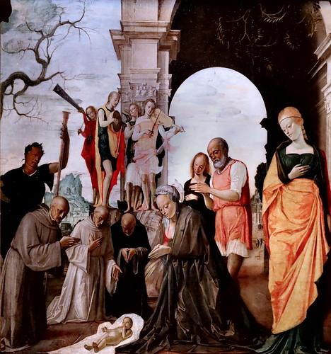 IMG_6723 Bramantino (Bartolomeo Suardi) 1465-1530 Milan  Adoration de l'Enfant  Adoration of the Child Milan Pinacoteca Ambrosiana