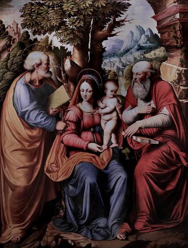 IMG_6743 Cesare Magni connu de 1511 à 1534 Vierge à l'Enfant avec Saint Pierre et Saint Jérôme Virgin and Child with Saint Peter and Saint Jerome Milan Pinacoteca Ambrosiana