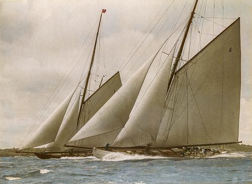 HMY Britannia racing against Lulworth (1920s prob.)