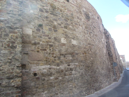 Calle  Carreras, view  along the citywalls, Leon