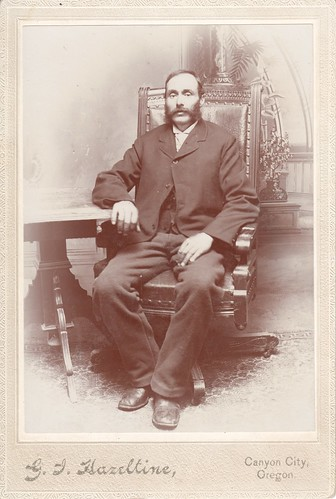 Cabinet Photo_seated man with large sideburns mustache combo, Canyon City, Oregon