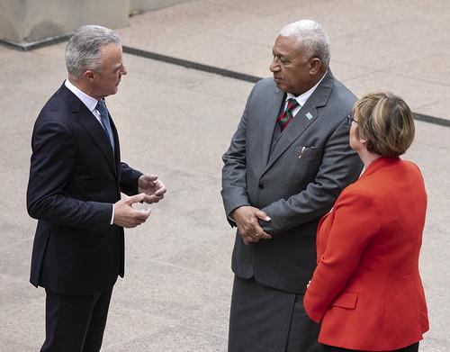 Guest of Government visit – Rear Admiral (Ret'd.) Honourable Josaia V. Bainimarama, CF(Mil), OSt.J, MSD, jssc, psc, Prime Minister of Fiji 16/09/2019