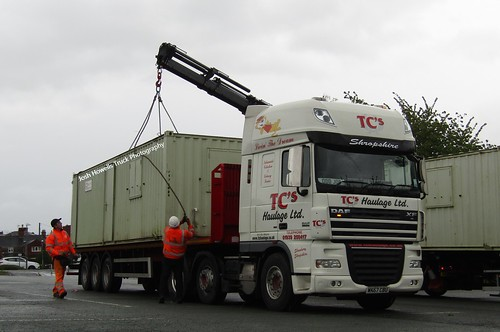 TC's Haulage WK57 CBU At Welshpool (Ex John Nicol)