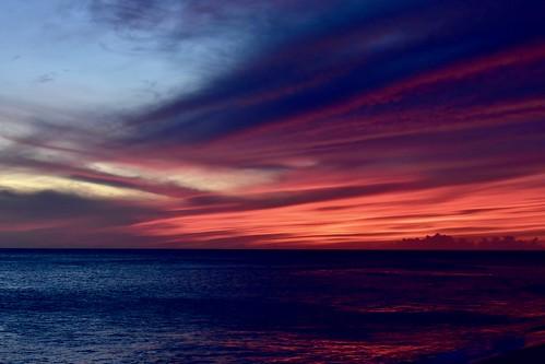 Afterglow from Keawaula Beach (Yokohama Bay), Oahu