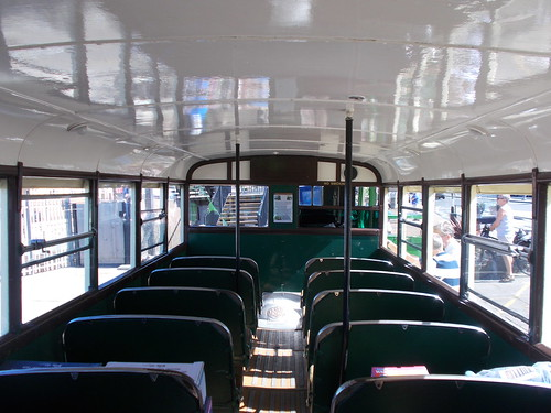 Lower deck interior of Southern Vectis 702
