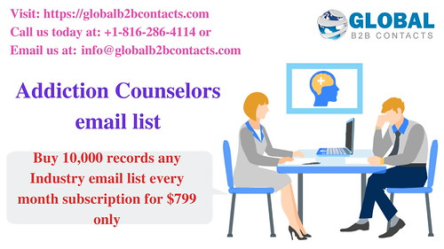 Addiction Counselors email list