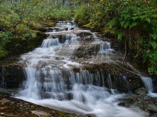 Cascade in creek at Oldervik, Norway