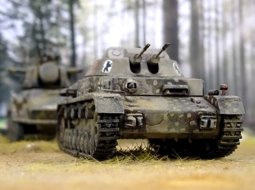 "1:72 SdKfz. 161/6, Leichter Flakpanzer IV 3 cm ""Kugelblitz""; vehicle ""II-02"" of the 2. FlakpanzerZug,  SturmPz.Kpfw.Abteilung 217; Berlin region, summer 1945 (Heer '46/modified Hasegawa kit)"