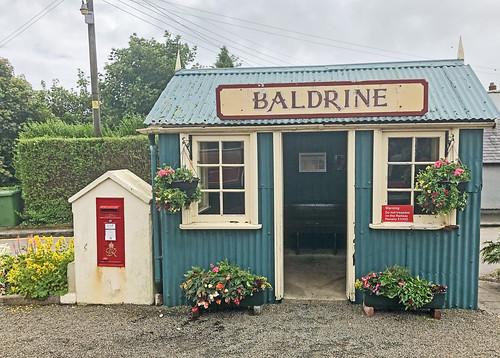 Baldrine station waiting room