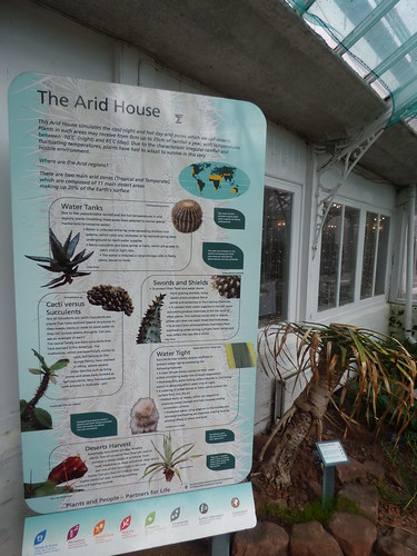 Birmingham Botanical Gardens: Heritage Open Day for Birmingham Heritage Week - Arid House - sign